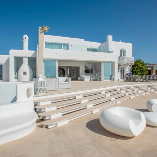 MYKONOS LUXURY VILLA KAREN THE LUXURIANS VILLASfront view